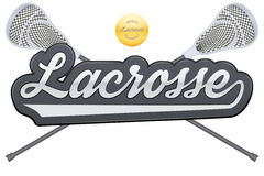 Lacrosse tag with ball and sticks Stock Photography