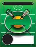 Lacrosse Template Flyer Royalty Free Stock Photo