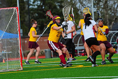 Lacrosse-Tormannblock Lizenzfreies Stockfoto