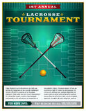Lacrosse Tournament Flyer Template Royalty Free Stock Images