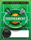 Lacrosse Tournament Flyer Template Stock Photos