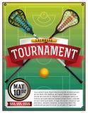 Lacrosse Tournament Flyer Template Stock Image