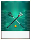 Lacrosse Tournament Template Flyer Royalty Free Stock Photography