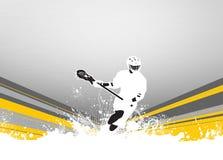 Lacrosseachtergrond Stock Afbeelding