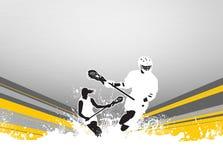 Lacrosseachtergrond Stock Foto's