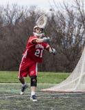 Lacrosseactie royalty-vrije stock fotografie