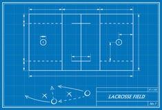 Lacrossefeld auf Plan Lizenzfreie Stockfotos