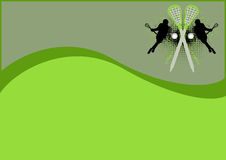 Lacrossehintergrund Lizenzfreie Stockfotografie
