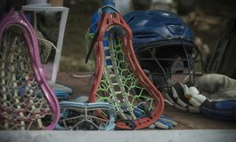 Lacrossemateriaal stock afbeelding