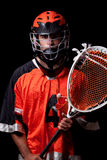 Lacrossespelare Fotografering för Bildbyråer