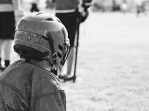 Lacrossespeler stock foto