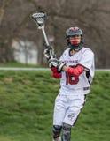 Lacrossespeler royalty-vrije stock afbeeldingen
