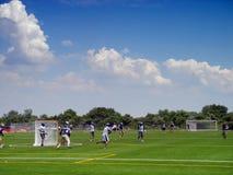 Lacrossespieler stockfoto
