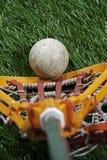 Lacrossespieleransicht Lizenzfreie Stockbilder