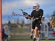 Lacrossespielervorlage Stockfoto