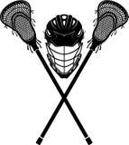 Lacrossesportuitrusting royalty-vrije illustratie