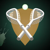 Lacrossesticks. Royaltyfri Fotografi
