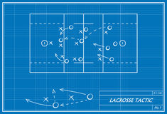 Lacrossetaktik auf Plan Lizenzfreies Stockbild