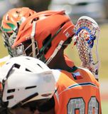 Lacrosseteam royalty-vrije stock fotografie