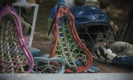 Lacrosseutrustning fotografering för bildbyråer