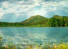 Lacs à chaînes Fulton, stationnement d'état d'adirondack Photos stock