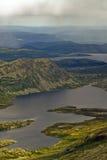 Lacs à la montagne Gaustatoppen Images libres de droits