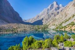Lacs Alouddin, montagnes de Fann, tourisme, le Tadjikistan Images stock