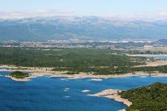Lacs artificiels dans Niksic, Monténégro Images stock