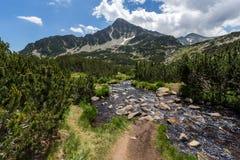 Lacs Banski, montagne de Pirin Photos stock