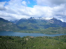 7 lacs, Bariloche, Patagonia, Argentine. Photos stock