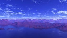 Lacs bleus 2 Images stock