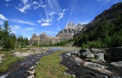 Lacs cascade Image libre de droits