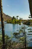 Lacs Cregennen un format vertical de paysage de Gallois Image libre de droits