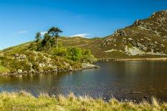 Lacs Cregennen un paysage de Gallois Photos stock