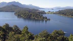 Lacs dans le bariloche Argentine Photographie stock libre de droits