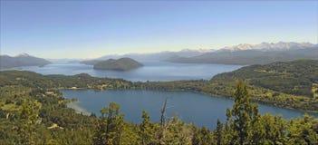 Lacs dans le bariloche Argentine Images stock