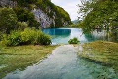 Lacs de cascade, Plitvice, Croatie Photos libres de droits