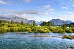 Lacs de parc national de glacier photo stock