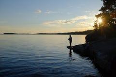 Lacs du nord ontario Photos libres de droits