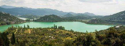 Lacs en Croatie Photos libres de droits
