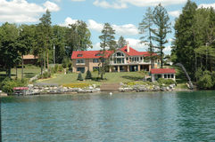 Lacs finger - manoir de Lake-front de Skaneateles Images libres de droits