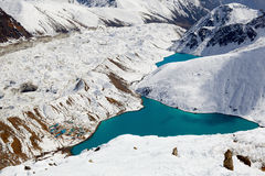 Lacs Gokyo Image stock