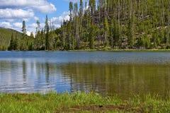 Lacs jumeaux Yellowstone Image libre de droits