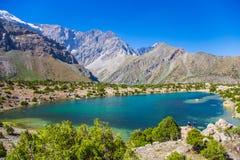 Lacs Kulikalon, montagnes de Fann, tourisme, le Tadjikistan Images libres de droits