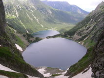 Lacs Morskie Oko et Czarny Staw Images stock