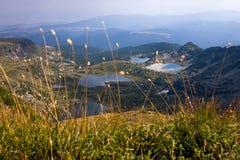 Lacs mountain sur la montagne de Rila Images stock