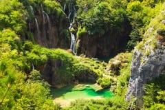 Lacs Plitvice en Croatie images stock
