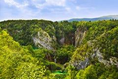 Lacs Plitvice en Croatie photo stock