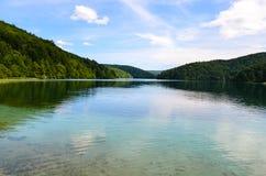 Lacs Plitvice en Croatie photographie stock