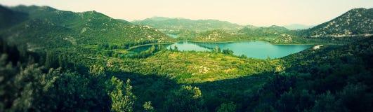 Lacs Ploce, Croatie Images libres de droits